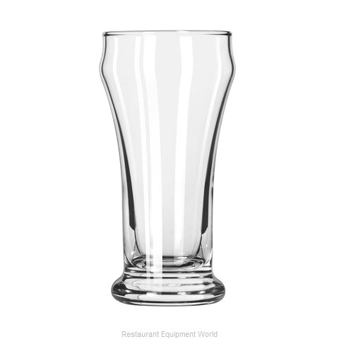 Libbey 16 Pilsner Beer Glass (Magnified)