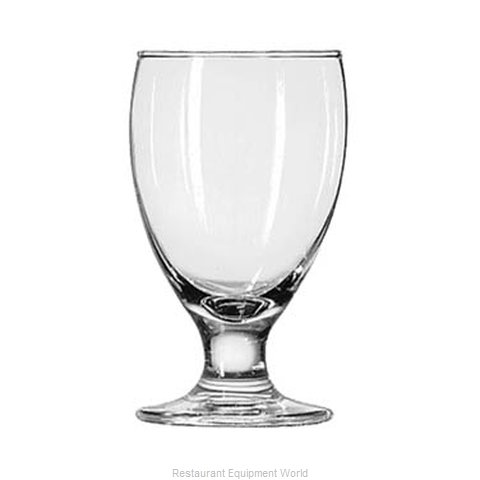 Libbey 3712 Glass, Goblet (Magnified)
