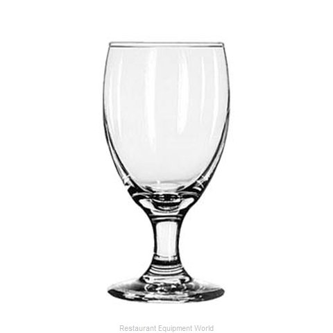 Libbey 3721 Glass, Goblet (Magnified)