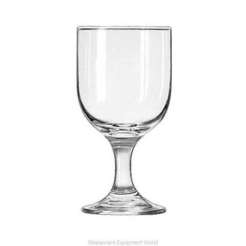 Libbey 3756 Goblet Glass (Magnified)