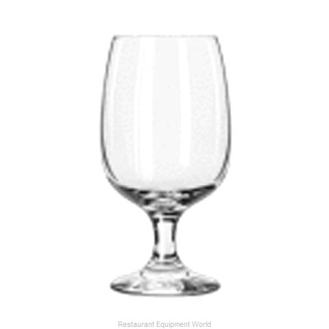 Libbey 3835 Glass Goblet (Magnified)
