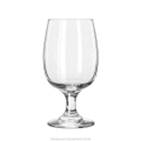 Libbey 3836 Glass Goblet (Magnified)