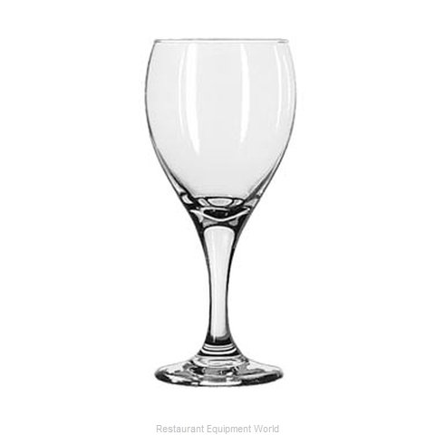 Libbey 3911 Glass, Goblet (Magnified)
