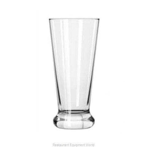 Libbey 409 Pilsner Beer Glass (Magnified)