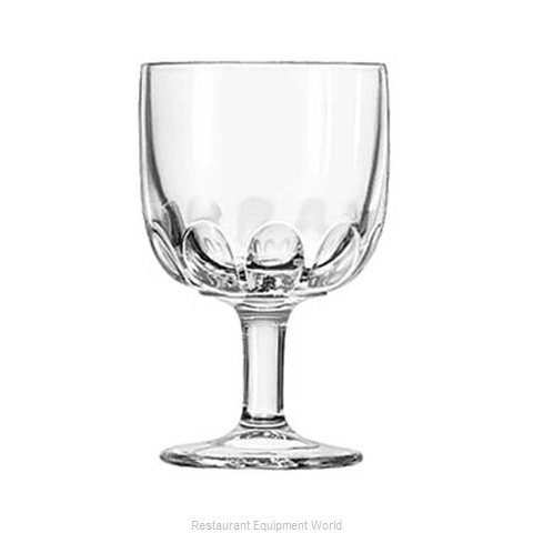 Libbey 5210 Glass, Goblet (Magnified)