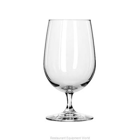 Libbey 7513 Glass, Goblet (Magnified)