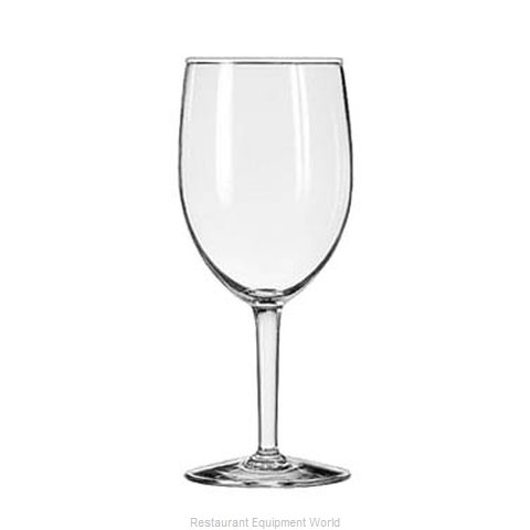 Libbey 8456 Glass, Goblet (Magnified)