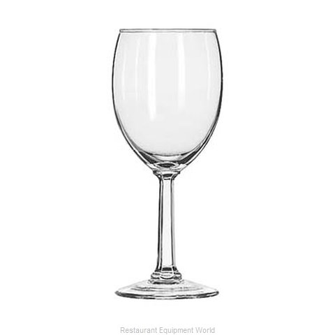 Libbey 8756 Glass Goblet (Magnified)