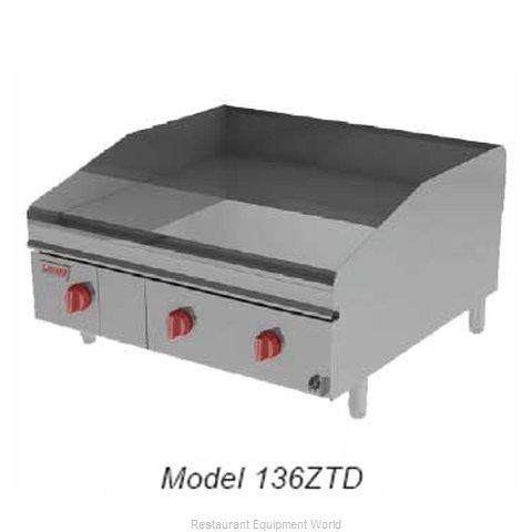 Lang Manufacturing 124ZTD Griddle Counter Unit Electric