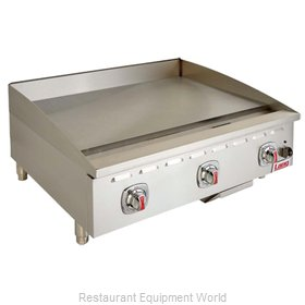 Lang Manufacturing 436TC Griddle, Gas, Countertop
