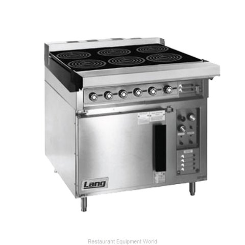 Lang Manufacturing RI36C-ATE Induction Range Floor Model (Magnified)