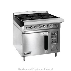 Lang Manufacturing RI36C-ATE Induction Range, Floor Model