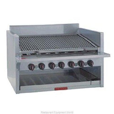 MagiKitch'N CM-RMB-648 17 High Counter Model Radiant Style Charbroiler