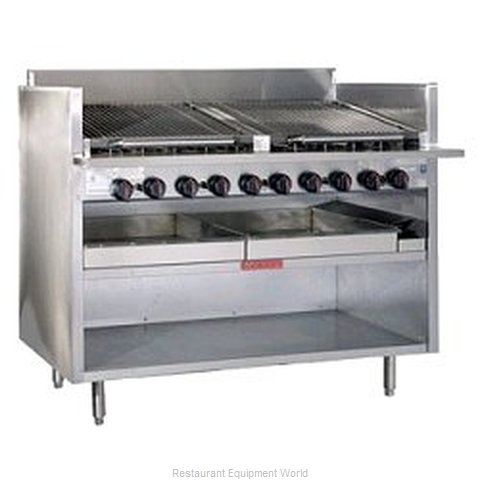 MagiKitch'N FM-RMB-630 34 High Floor Model Radiant Style Charbroiler