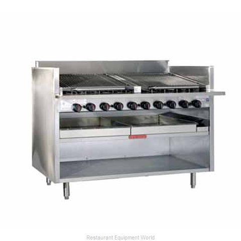 MagiKitch'N FM-RMB-672CR Charbroiler, Gas, Floor Model