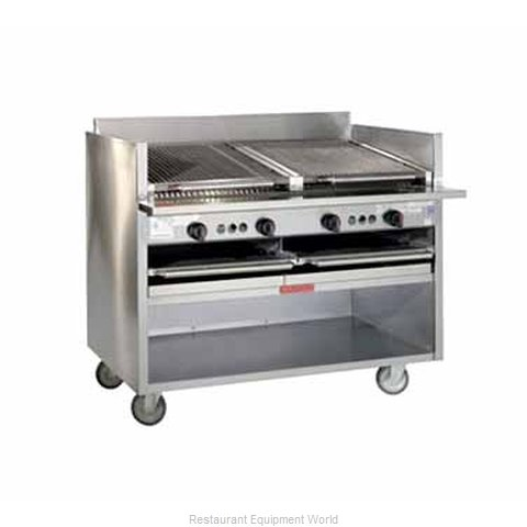MagiKitch'N FM-SMB-624 Charbroiler, Gas, Floor Model