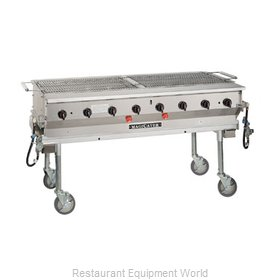 MagiKitch'N LPG-60-SS Charbroiler, Gas, Outdoor Grill
