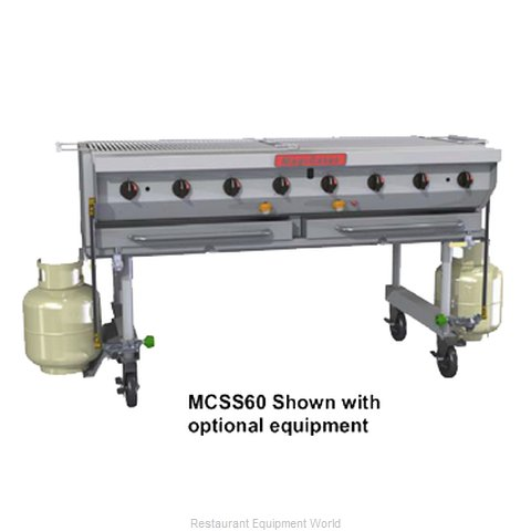 MagiKitch'N MCSS-30 Charbroiler, Gas, Outdoor Grill