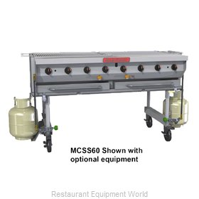 MagiKitch'N MCSS-60 Charbroiler, Gas, Outdoor Grill