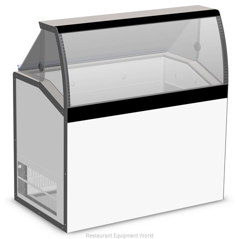 Master-Bilt DD-46LCG Display Case, Dipping Ice Cream (Magnified)