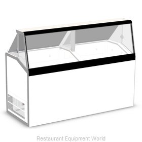 Master-Bilt DD-66L Display Case, Dipping Ice Cream