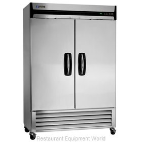 Master-Bilt MBF49-S Solid Door Reach-In Freezer