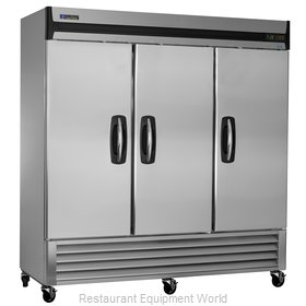 Master-Bilt MBF72-S Solid Door Reach-In Freezer