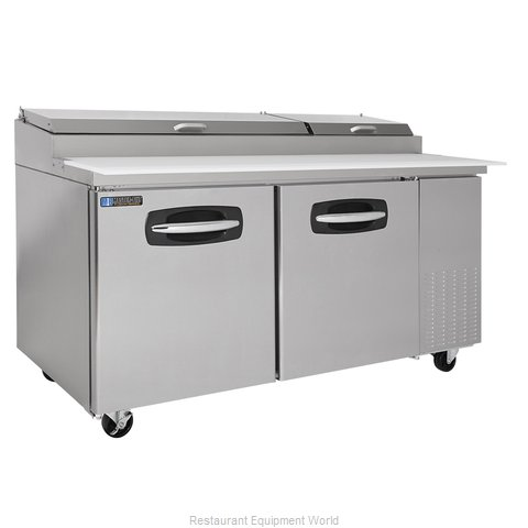Master-Bilt MBPT67 Pizza Prep Table Refrigerated