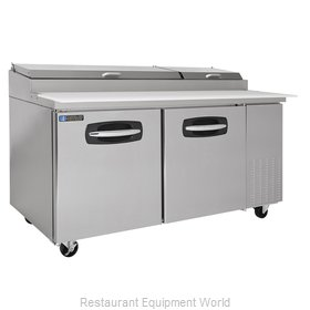 Master-Bilt MBPT67 Refrigerated Counter, Pizza Prep Table