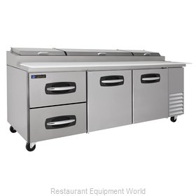 Master-Bilt MBPT93-003 Pizza Prep Table Refrigerated