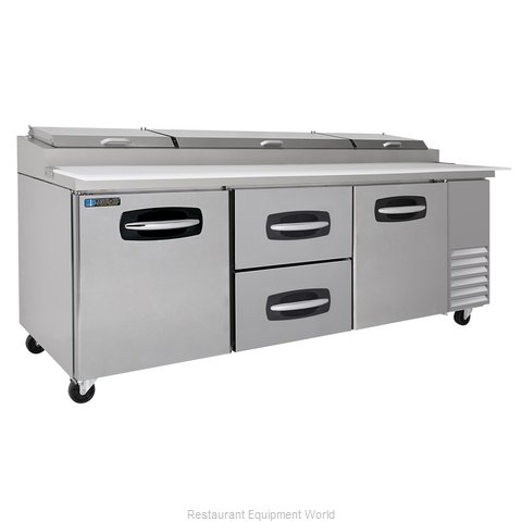 Master-Bilt MBPT93-004 Pizza Prep Table Refrigerated (Magnified)