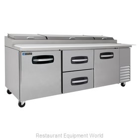 Master-Bilt MBPT93-004 Pizza Prep Table Refrigerated