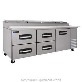 Master-Bilt MBPT93-007 Pizza Prep Table Refrigerated