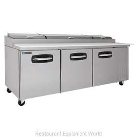 Master-Bilt MBPT93 Refrigerated Counter, Pizza Prep Table