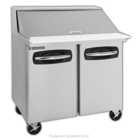 Master-Bilt MBSMP36-15A Refrigerated Counter, Mega Top Sandwich / Salad Unit