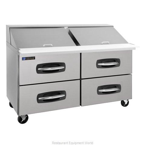 Master-Bilt MBSMP60-24A-001 Refrigerated Counter, Mega Top Sandwich / Salad Unit