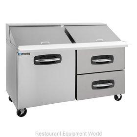 Master-Bilt MBSMP60-24A-002 Refrigerated Counter, Mega Top Sandwich / Salad Unit