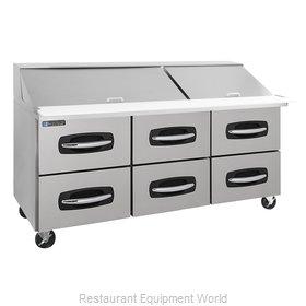 Master-Bilt MBSMP72-30A-001 Refrigerated Counter, Mega Top Sandwich / Salad Unit