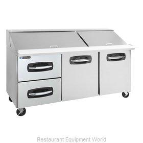 Master-Bilt MBSMP72-30A-003 Refrigerated Counter, Mega Top Sandwich / Salad Unit