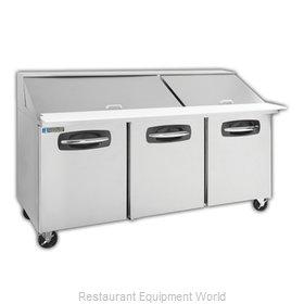 Master-Bilt MBSMP72-30A Refrigerated Counter, Mega Top Sandwich / Salad Unit