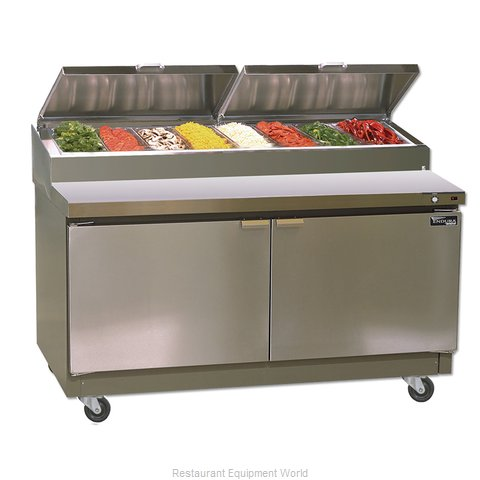 Master-Bilt MRR192SMS/0 Refrigerated Counter, Pizza Prep Table