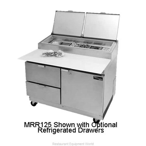 Master-Bilt MRR243SMS/0 Refrigerated Counter, Pizza Prep Table