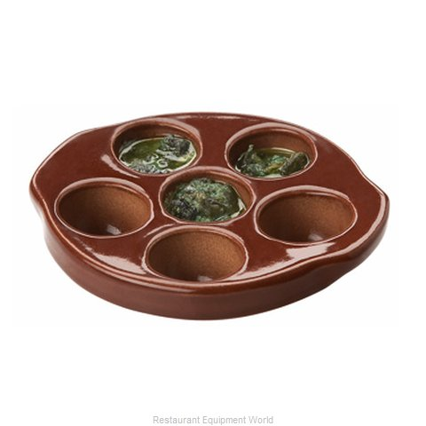 Matfer 552085 China Escargot Plate