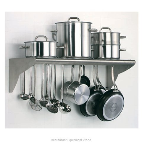 Matfer 845608 Overshelf, Wall-Mounted With Pot Rack