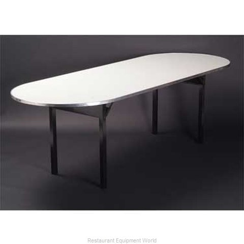 Maywood Furniture DFORIG3696RACE Folding Table, Oval