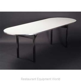 Maywood Furniture DFORIG4884RACE Folding Table, Oval