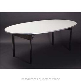 Maywood Furniture DFORIG6072OVAL Folding Table, Oval