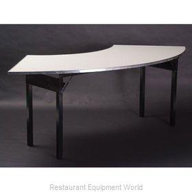 Maywood Furniture DFORIG9630CR6 Folding Table, Serpentine/Crescent