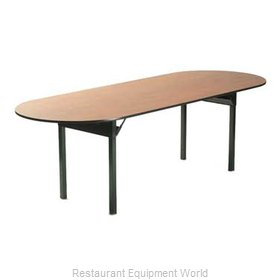 Maywood Furniture DLORIG3696RACE Folding Table, Oval