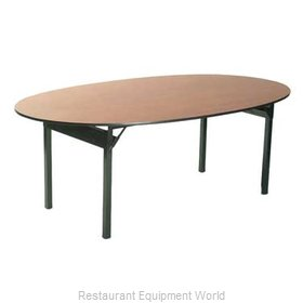 Maywood Furniture DLORIG6072OVAL Folding Table, Oval